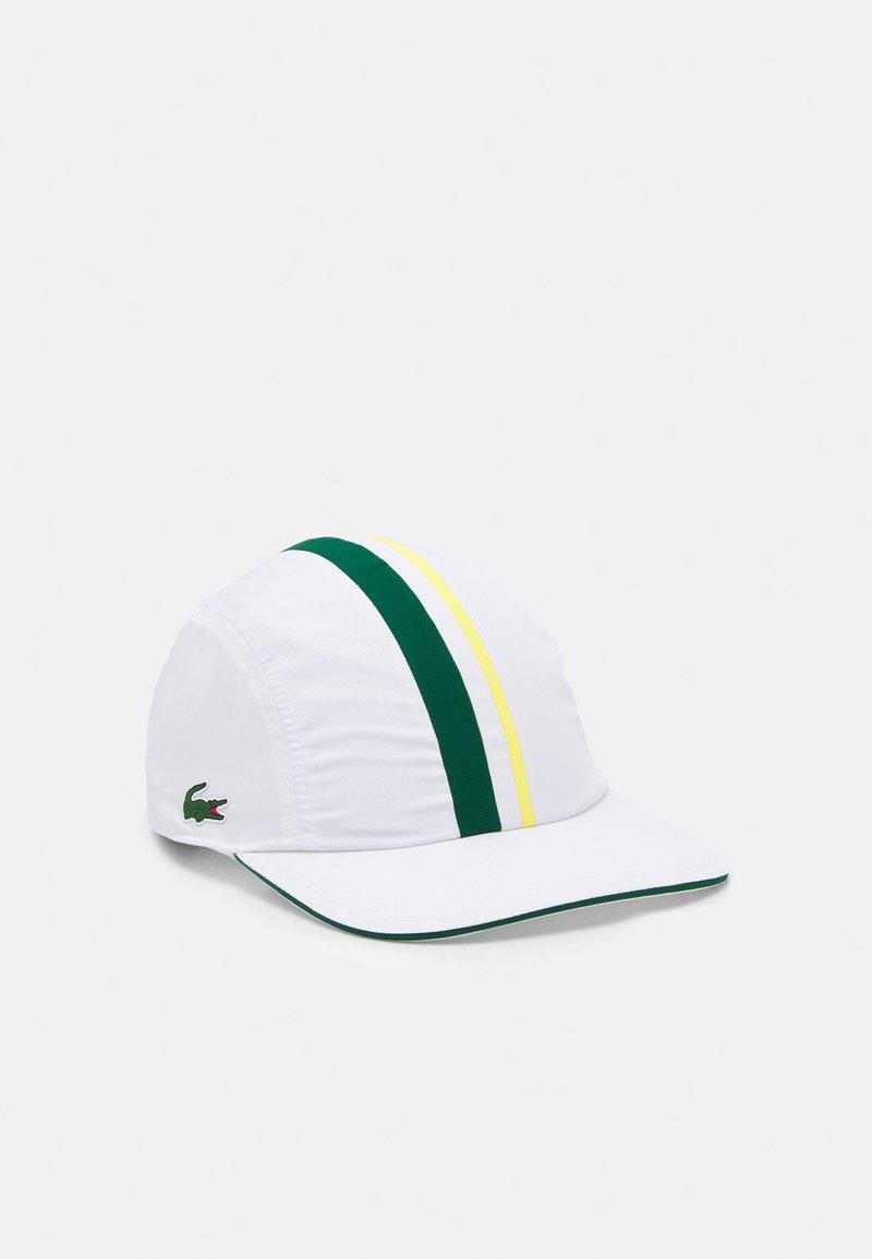 Lacoste Sport - TOUR UNISEX - Cap - white/swing daphne/yellow