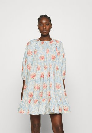 POPLIN SHIFT DRESS - Day dress - light blue
