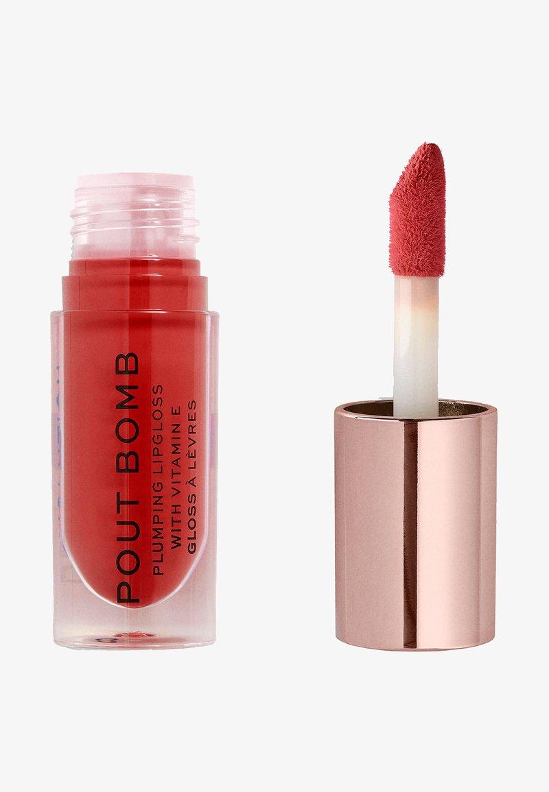 Make up Revolution - POUT BOMB PLUMPING GLOSS LIPGLOSS - Lip gloss - juicy