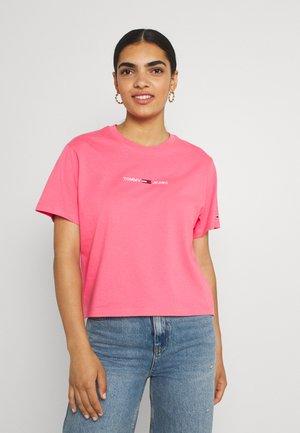 LINEAR LOGO TEE - Basic T-shirt - botanical pink