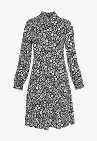 Wallis Petite - DAISY DITZY SHIRRED CUFFING SWING DRESS - Jersey dress - black - 4