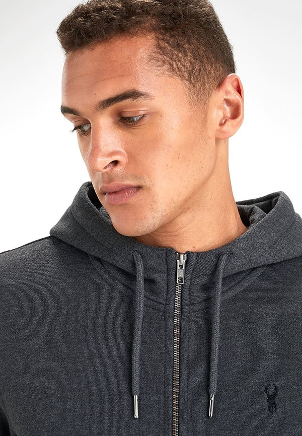 Next Bluza rozpinana - gray/szary Odzież Męska IWSH