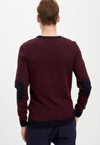 DeFacto - Stickad tröja - bordeaux - 2