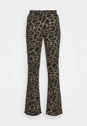 NMSOFIE PASA FLARED PANTS - Trousers - dusty olive