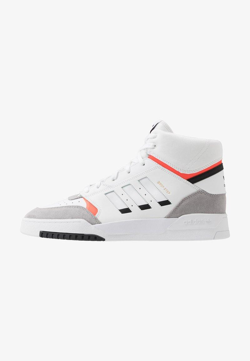 adidas Originals - DROP STEP - Sneakersy wysokie - footwear white/granit/solar red