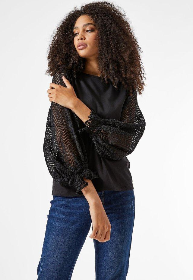 BALLON - T-shirt à manches longues - black