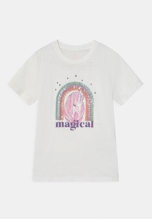 STEVIE - Print T-shirt - vanilla