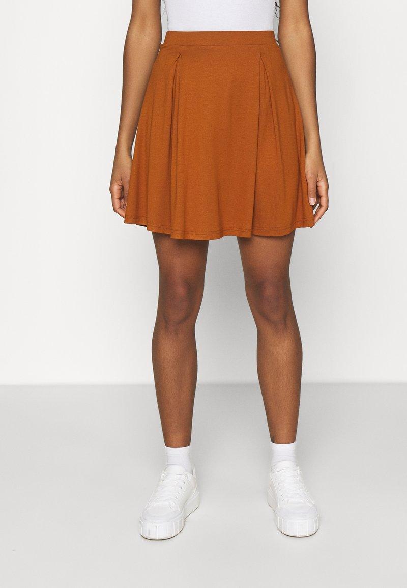 Even&Odd - A-line skirt - brown