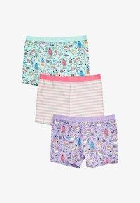 Next - 3 PACK UNICORN SHORTS - Pants - pink - 0
