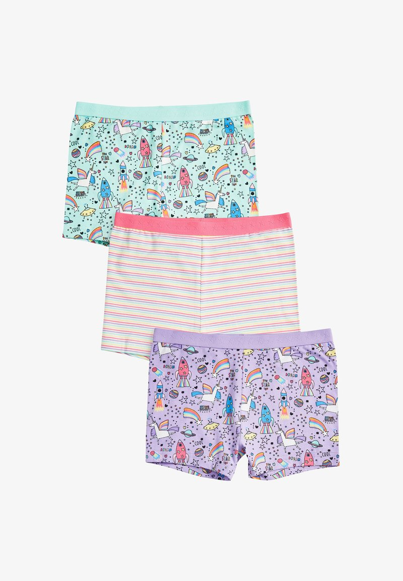 Next - 3 PACK UNICORN SHORTS - Pants - pink