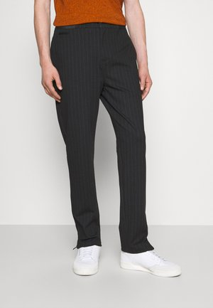 PINSTRIPE GALFOS - Trousers - black