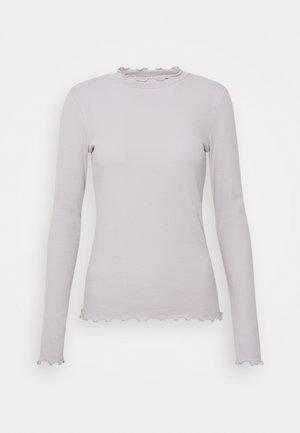 VIJULLA HIGH NECK - Långärmad tröja - mottled light grey