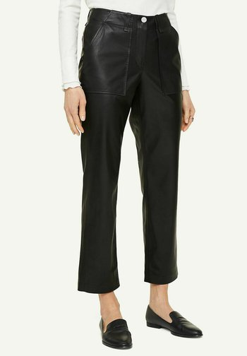 Leather trousers - black