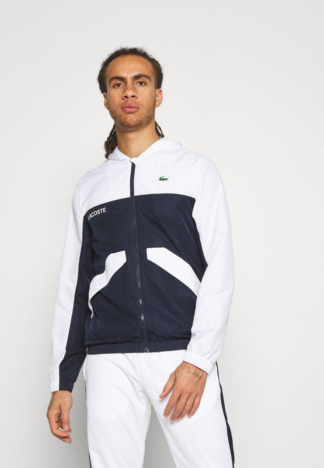 TRACK JACKET - Veste de survêtement - white/navy blue