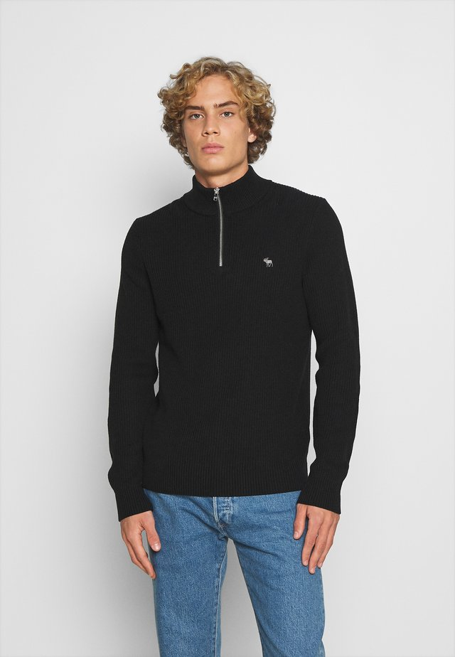 CORE ICON ZIP - Jumper - black
