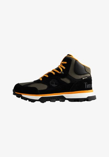 High-top trainers - black suede