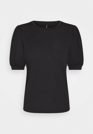 ONLPELLA ONECK PUFF - T-shirts med print - black