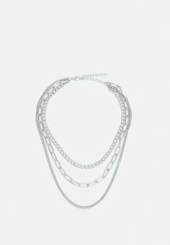LAYERING CHAIN NECKLACE UNISEX - Halskette - silver-coloured