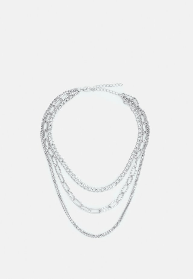 LAYERING CHAIN NECKLACE UNISEX - Smykke - silver-coloured