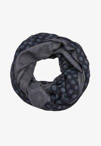 dark blue placed print