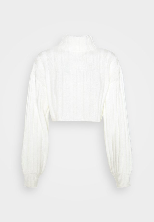 CROPPED DETAIL  - Strikkegenser - off white