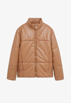 TAMI - Leather jacket - medium brown