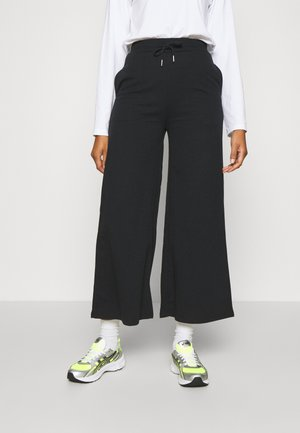 Wide Leg Tracksuit Bottoms - Pantaloni sportivi - black