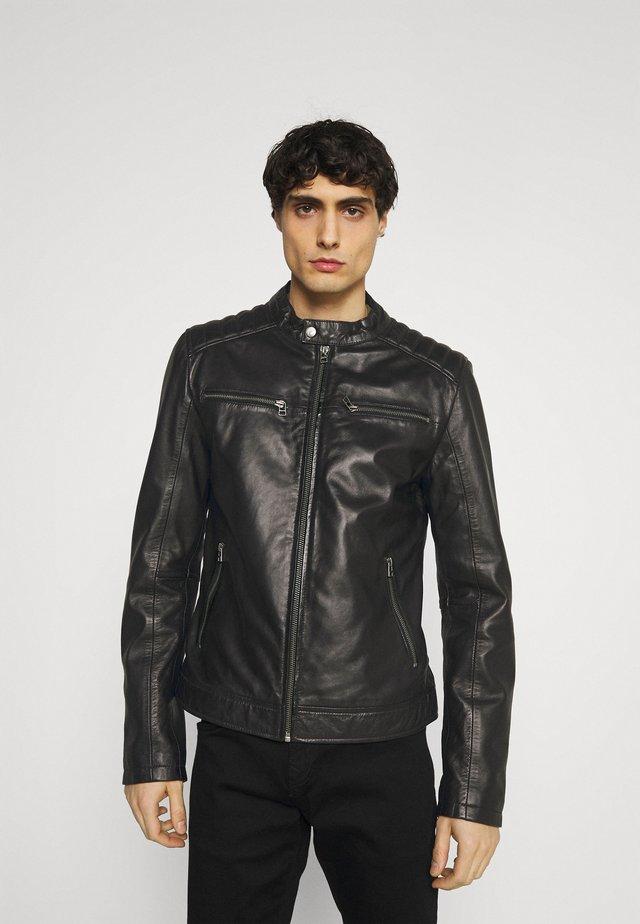 BIKER  - Kožená bunda - black