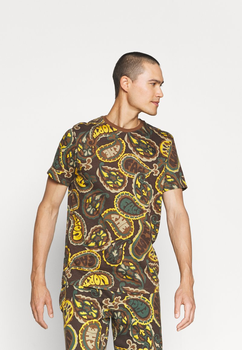 The North Face - REDBOX TEE - Print T-shirt - pinecone brown