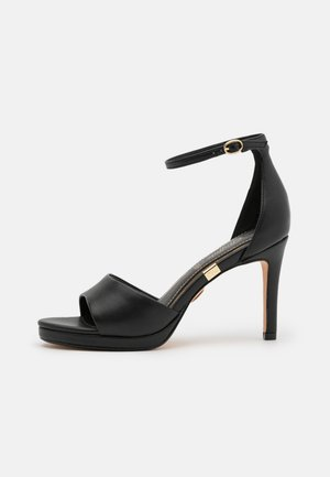 VEGAN RONJA - Korolliset sandaalit - black