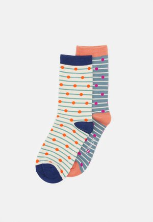 HOPE SOCKS 2 PACK - Ponožky - cream/sea blue