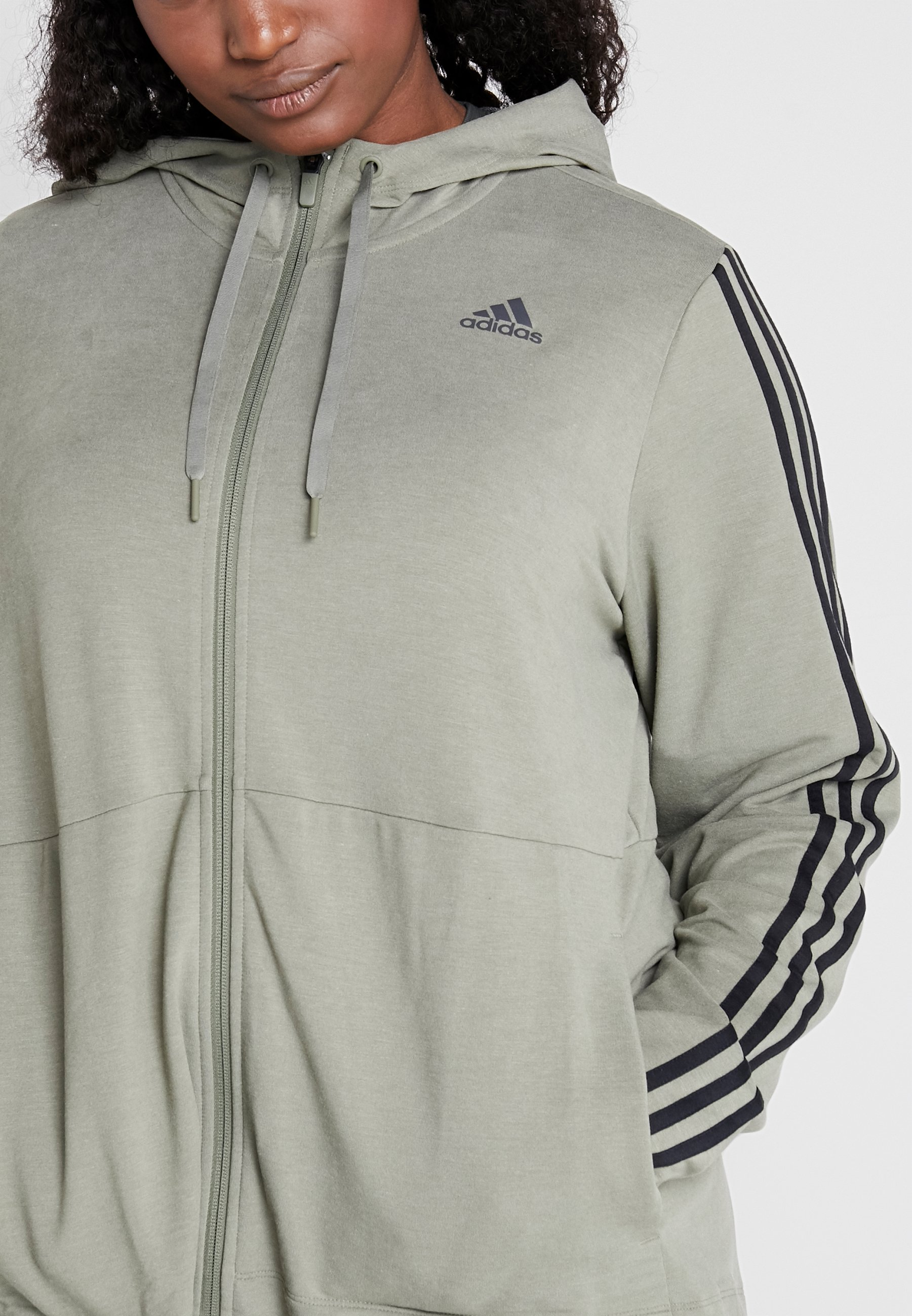 adidas Performance 3S HOOD Sweatjacke legend green