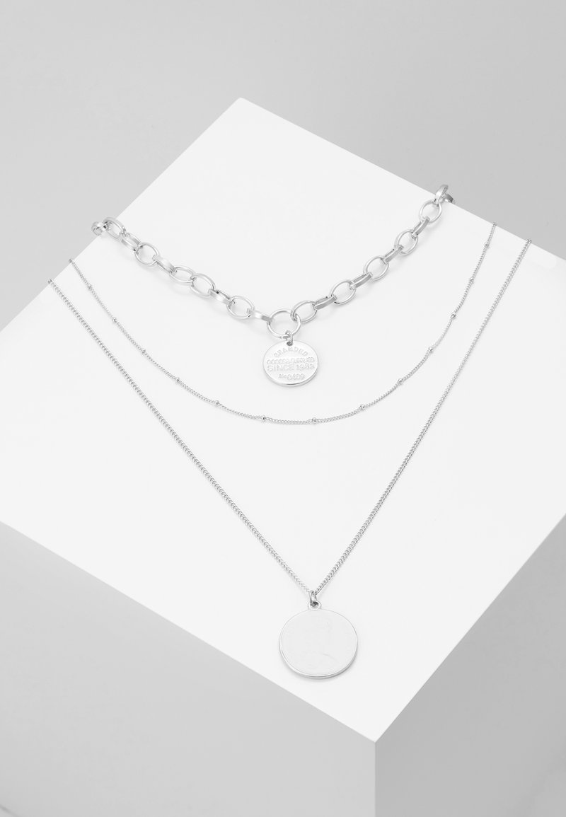 Pieces - PCDIANE COMBI NECKLACE - Smykke - silver-coloured