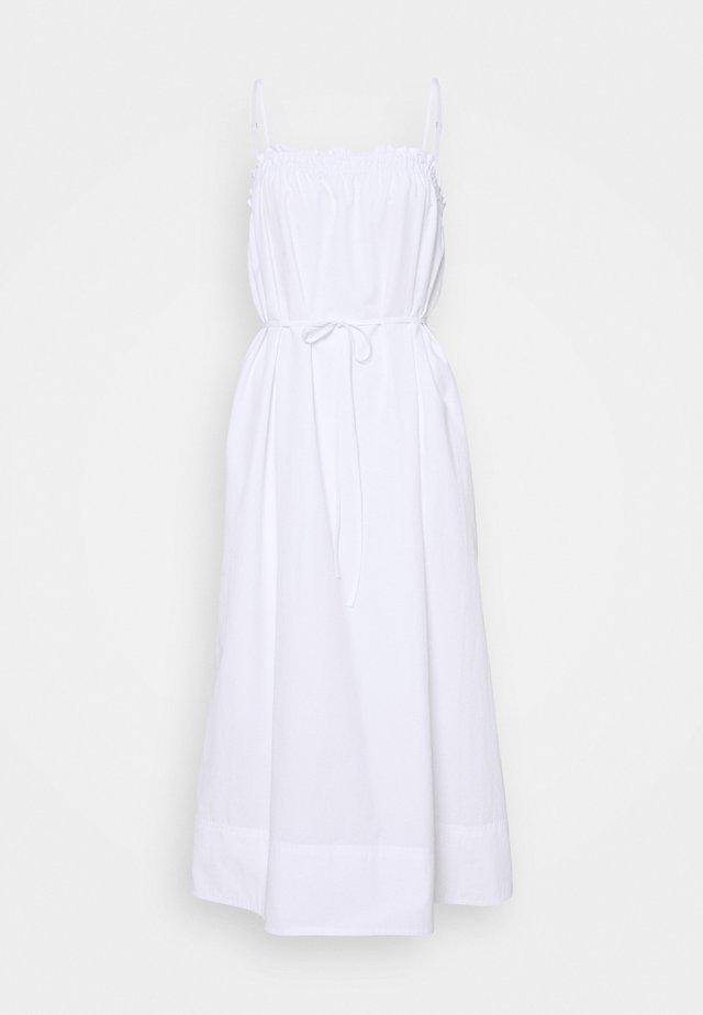 GATHERED RUFFLE A LINE - Robe d'été - white