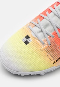 Nike Performance - MERCURIAL 8 ACADEMY MDS TF - Astro turf trainers - white/bright mango - 5