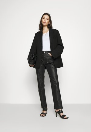 OVERSIZED TWILL BLAZER - Blazer - black