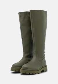 Selected Femme - SLFEMMA HIGH SHAFTED BOOT  - Plateaustiefel - kalamata - 2
