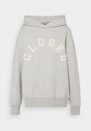 HOODIE WITH WHITE LOGO ACROSS CHEST - Mikina - grey