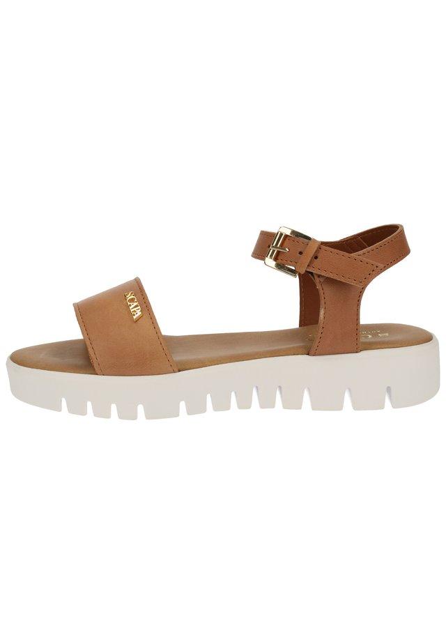 Sandals - cuoio