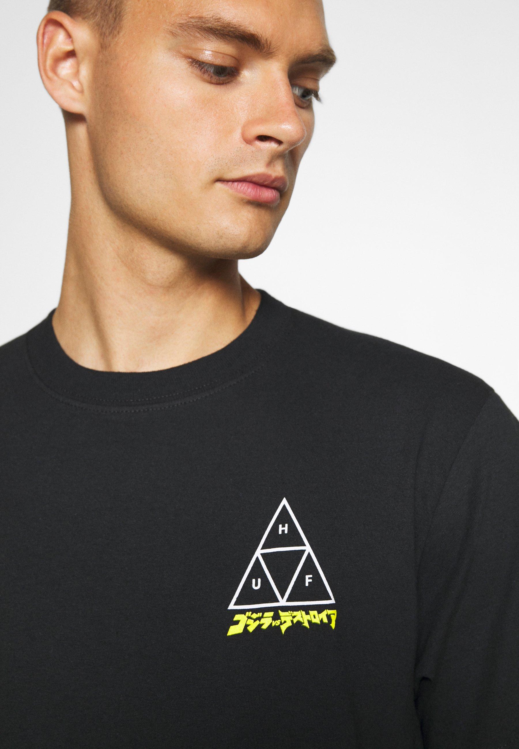 Huf Godzilla Tee - T-shirts Med Print Black/svart