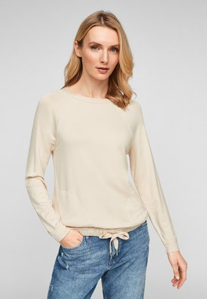 MIT GUMMIZUG - Blouse - light sand