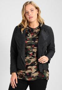 ONLY Carmakoma - CARAVANA - Faux leather jacket - black - 0