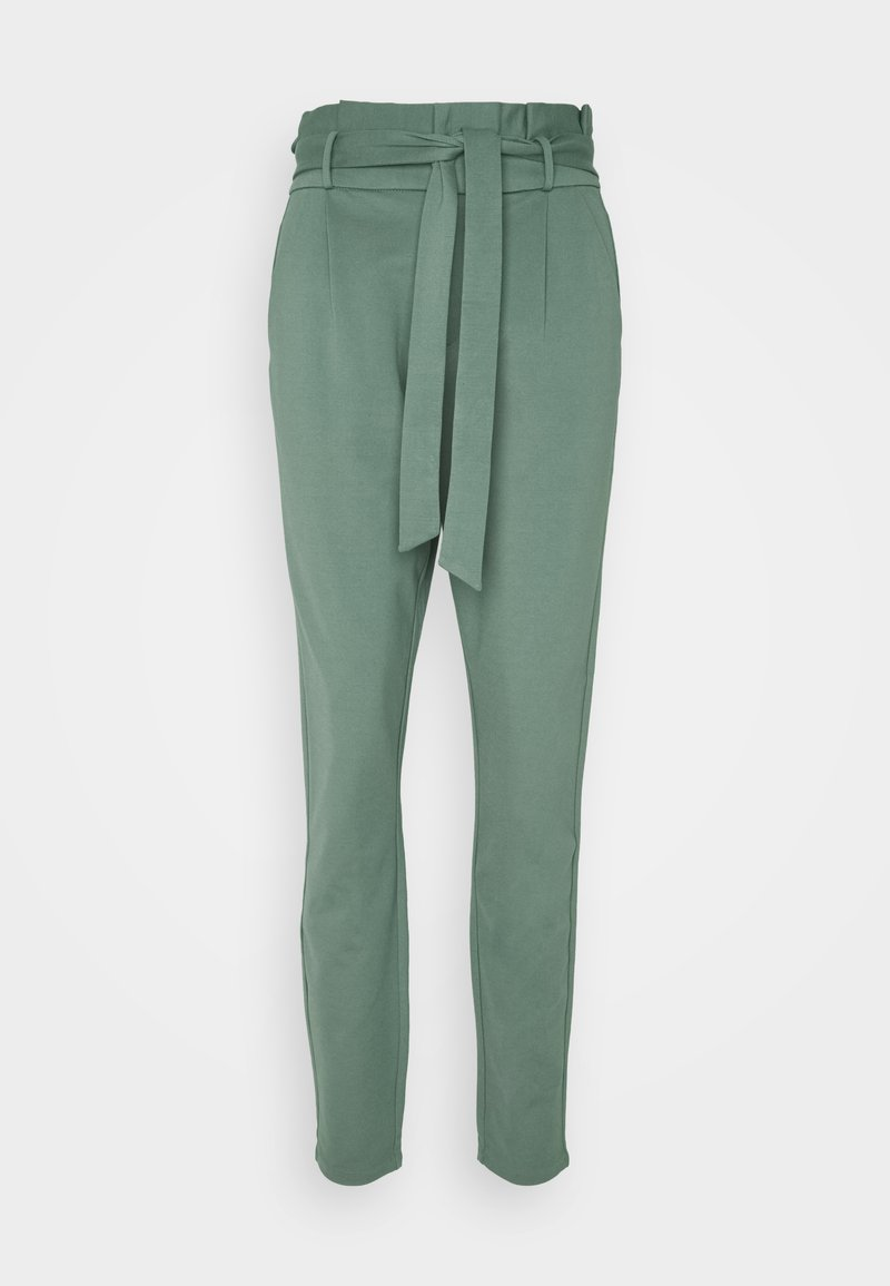 Vero Moda Tall - VMEVA PAPERBAG PANT - Trousers - laurel wreath