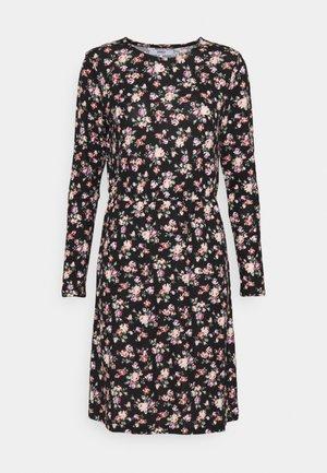 ONLELCOS EMMA ELASTIC DRESS - Strikket kjole - black