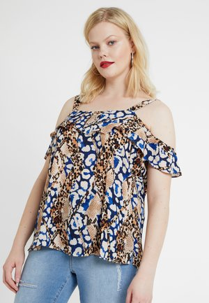 COLD SHOULDER SNAKE MIX PRINT - Pusero - multi coloured