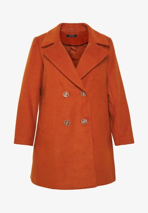 DOUBLE BREASTED COAT - Short coat - rust