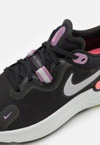 Nike Performance - REACT MILER - Neutral running shoes - black/metallic silver/violet dust - 5