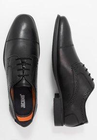Jacamo - SOLEFORM TECH DERBY - Smart lace-ups - black - 1