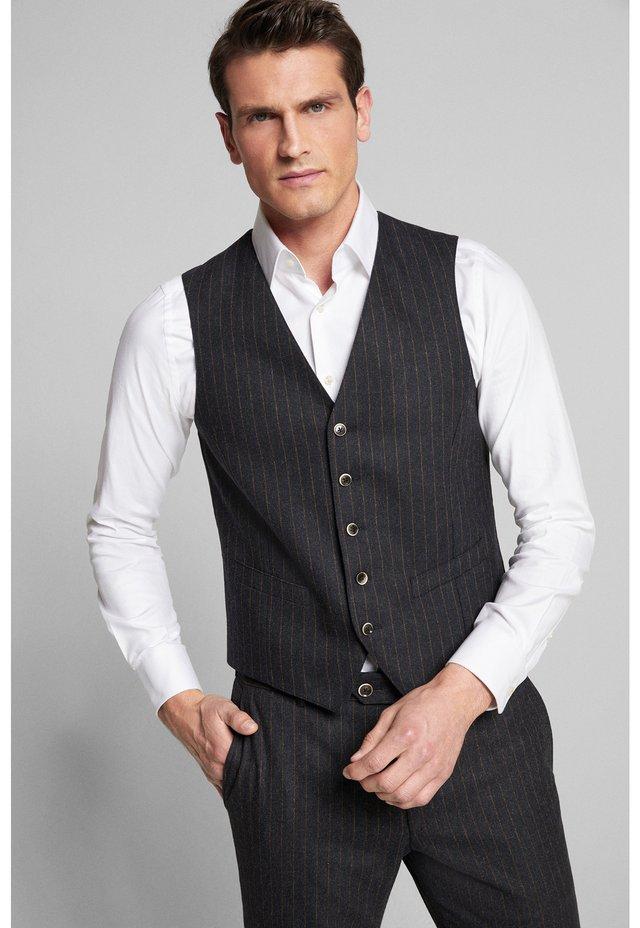 Suit waistcoat - dunkelblau gestreift
