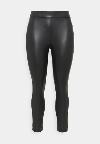 HIGH WAIST - Leggings - Trousers - black